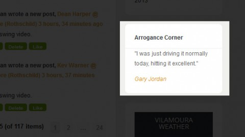 Arrogance Corner