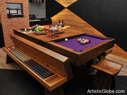 Bench Pool Table
