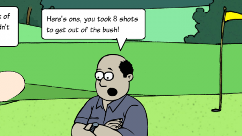 Golf Banter Sketches – Trying to think of a reason?